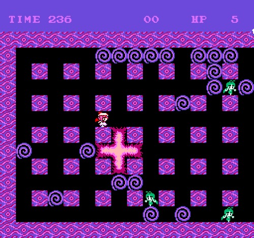 Bomberman NES female hack