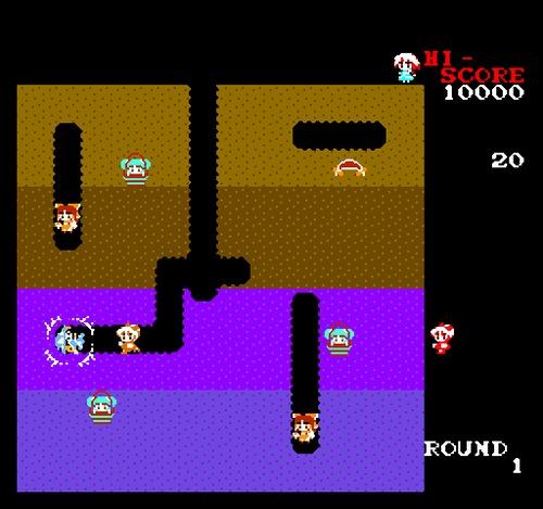 Dig Dug NES female rom hack