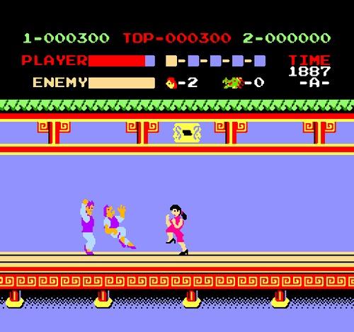 Kung Fu NES female rom hack