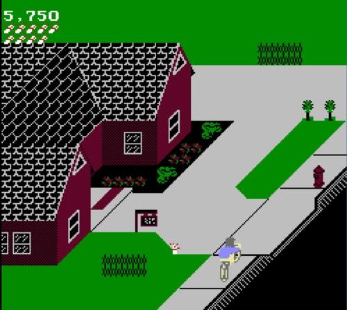 Paperboy NES girl hack