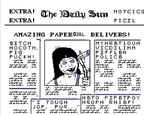 Paperboy NES girl hack newspaper