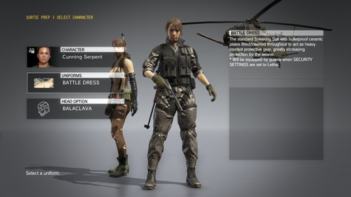 Metal Gear Solid V Quiet swap mod
