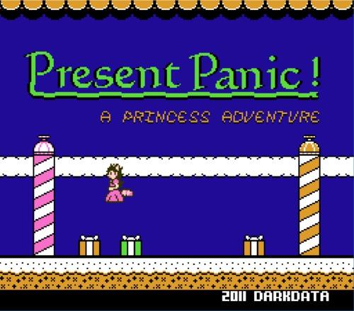 Present Panic title screen