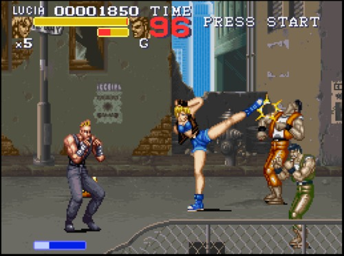 Final Fight 3 Lucia gameplay