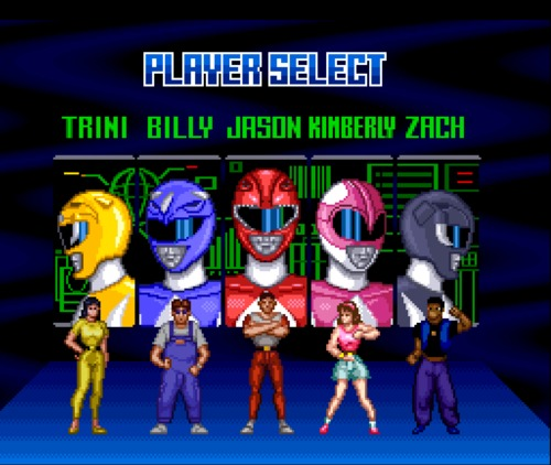 Mighty Morphin Power Rangers character selection