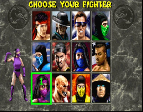 Mortal Kombat II choose your fighter