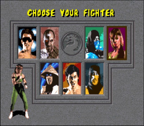 Mortal Kombat choose your fighter