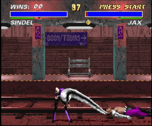 Mortal Kombat 3 Sindel hair gameplay