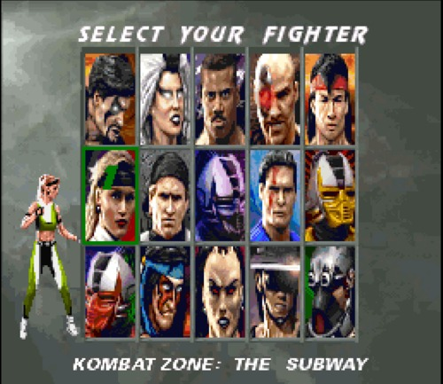 Mortal Kombat 3 select your fighter