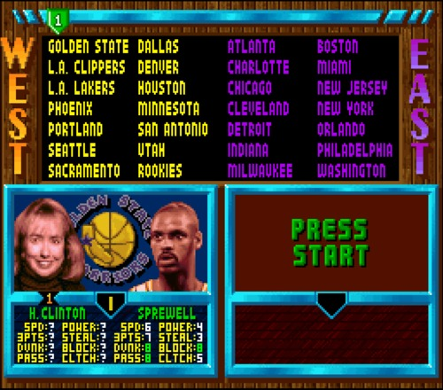 NBA Jam Tournament Edition Hillary Clinton unlock