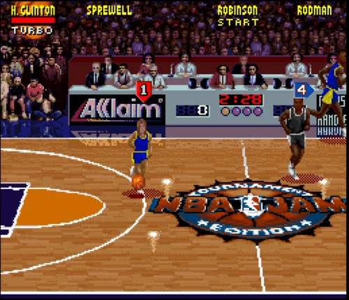 NBA Jam Tournament Edition Hillary Clinton gameplay