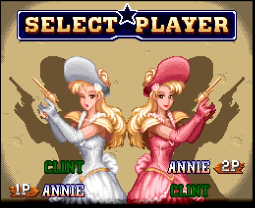 Wild Guns co-op Annie characters